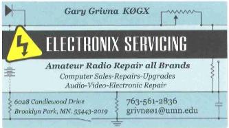 Repair Service Gary Grivna K0GX